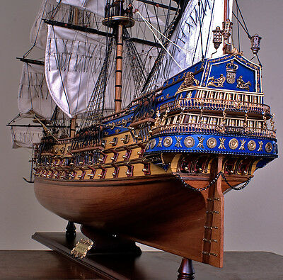 "SAN FELIPE 48"" wood model ship large scaled Spanish sailing boat"
