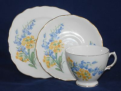 Pretty Vintage Royal Vale Trio - Blue Bells and Daisies