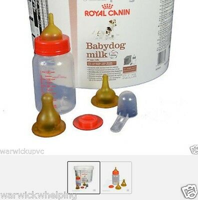 Royal Canin 2Kg Baby Dog Puppy Milk Kit  & Feeding Bottle Set Free Pen