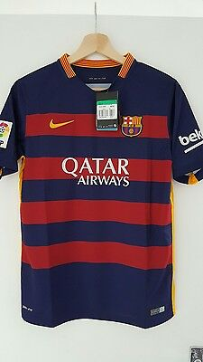 NIKE BARCELONA HOME SHIRT 2015/16 KIDS 100% AUTHENTIC size M football jersey