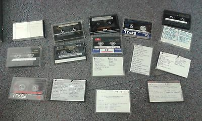 16 X  Assorted Cassettes From London Music Studios (Please Read) Rare Rock Promo
