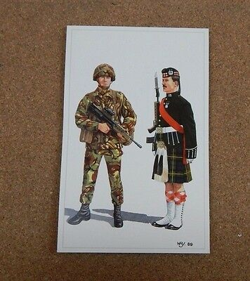 Military Uniforms Postcard The Gordon Highlanders combat & No1 unposted