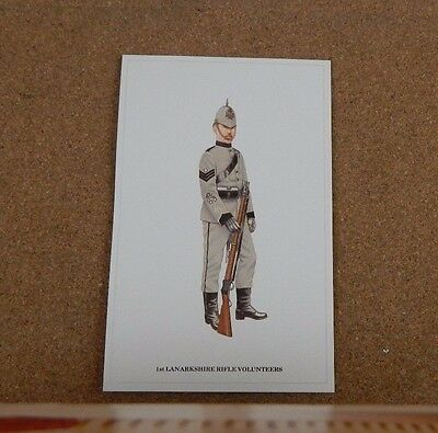 Military Uniforms Postcard Lanarkshire Rifle Volunteers unposted