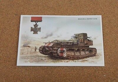 Military  Vehicles medium M.A Whippet Tank  WW1 unposted