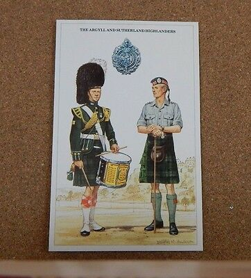 Military Uniforms Postcard The Argyll & Sutherland Highlanders . unposted