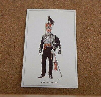 Military Uniforms Postcard yorkshire Hussars  unposted