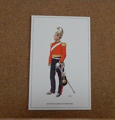 Military Uniforms Postcard South Salopian Yeomanry. unposted