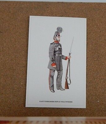 Military Uniforms Postcard East Yorkshire Rifle Volunteers. unposted