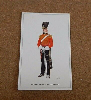 Military Uniforms Postcard Richmond . Forresters yeomanry unposted