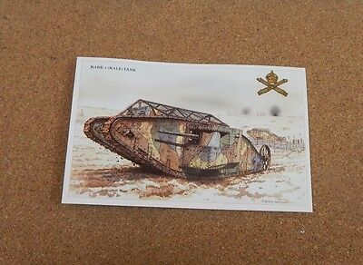 Military  Vehicles Mark I Male Tank WW1 unposted