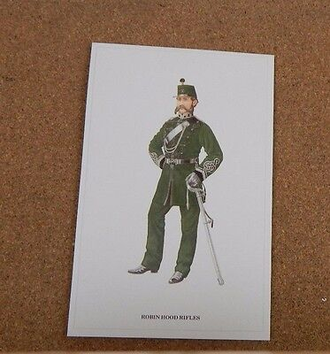 Military Uniforms Postcard Soldier Robin Hood rifles unposted