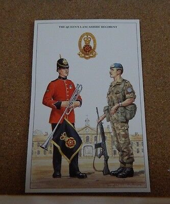 Military uniforms queens Lancashire Regiment  .unposted