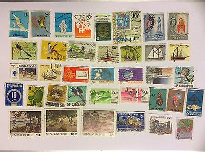 Singapore stamps, Used x60