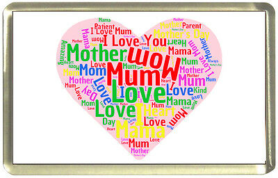 Mother Word Cloud Fridge Magnet - Mother's Day, Birthday