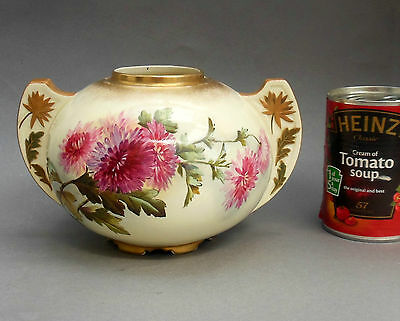 """C19th George Jones Vase / Urn ~ Hand Painted Floral """"Faience"""" ~ Crescent Pottery"""