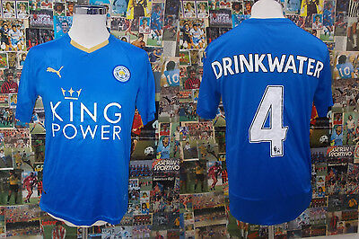 maglia calcio shirt maillot camiseta trikot LEICESTER DRINKWATER TG M