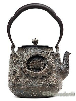 """Very Rare""Japanese Iron TEA KETTLE Teapot Tetsubin,RYUBUNDO made from Japan"