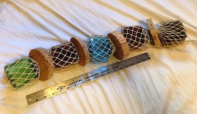 "Vintage Fishing Float Buoy netting And Cork Fits 5 3"" Floats No Glass"
