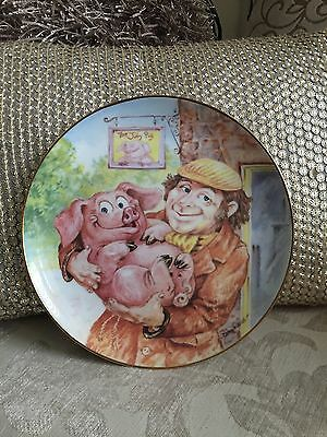 PIGGIN' PLATES by David Corbridge 'The Jolly Pig' Limited Edition Plate