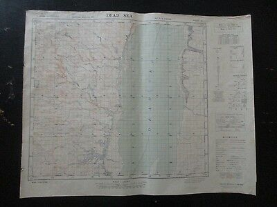 Dead Sea: An Old Topographical Map, 1:100000, Survey Of Palestine,1942. Vbok178