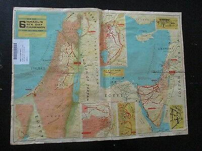 ISRAEL'S 6 DAYS CAMPAIGN,A WAR MAP, ISSUED by DR. J. SHAPIRO,ISRAEL,1967.VBOK180