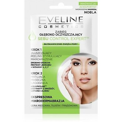 EVELINE Face Mask Deep Cleansing Treatment Sebu Control Expert MICRODERMABRASION
