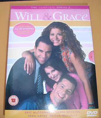 Will and Grace Complete Series 3 Box Set  VGC DVD Region 2
