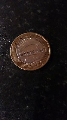 2013 2 pound coin London Underground the Roundel