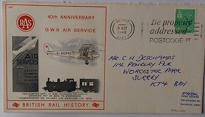 Great Britain 1983 Railway Air Service 40Th Anniversary Illustrated Cover Medway