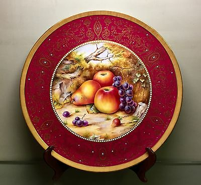 Fabulous Huge Rare Royal Worcester Fruit Painted Plaque signed David Fuller