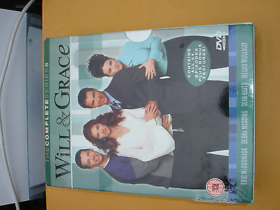 Will and Grace: Complete Series 5 Box Set VGC DVD Region 2