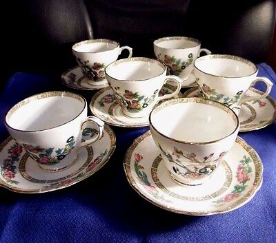 Duchess Tea Cup and Saucers  Indian Tree Pattern. 12 pieces