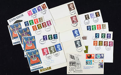 Job lot Collection of definitive FDC's from 1960's - 1970's inc: High Values