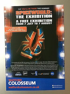 Spice Girls Spiceworld: The Exhibition Promo Flyer Watford Colosseum