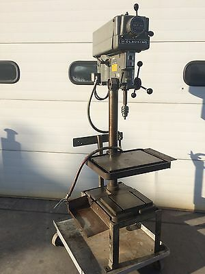 "Clausing 14"" Drill Press 1771 Variable Speed Prod. Table 12""x18"" 3/4 Hp 3 Ph"