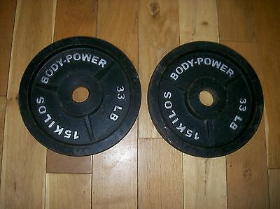 2 x 15 KG Body power Oympic weight plates