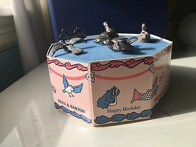 Reed & Barton Silverplated Merry Menagerie 6 Animal Birthday Candle Holders