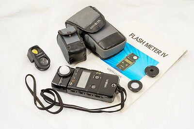 Minolta Flash Meter IV - Ambient/Flash Meter with Spot Attachment and Cases.