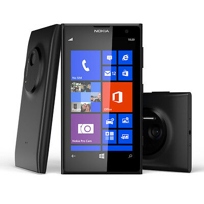 Brand New Black Nokia Lumia 1020 64Gb - Unlocked Phone - Wifi - 4G - Bluetooth