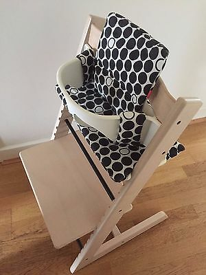 Stokke Tripp Trapp High Chair - White, with cushions and harness