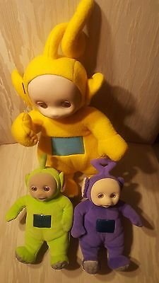 3 PCS Teletubbies Laa Laa Tinky Winky Po Dispy Soft Plush Doll Toys