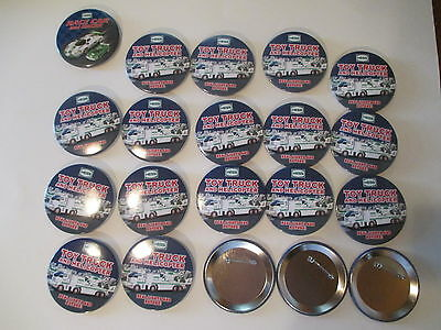 Hess Advertising Buttons Lot of 20 Truck & Helicopter; Racecar & Racer