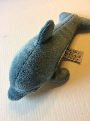 "Russ Yomiko Classics Blue And White Soft Stuffed 11"" Dolphin Plush Animal"