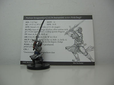 D&D Pathfinder Miniatures - Archfiends 2004 #4 Human Dragonslayer Figur