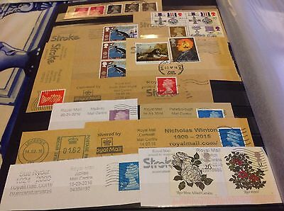 Collection Mixture Lot of stamps on paper special postmark ..... Lot 53