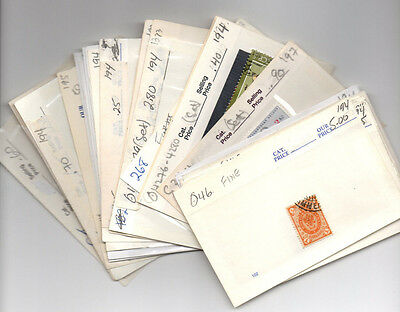 Stamp Collection On Dealers Stock Cards Mixed Condition