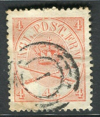 DENMARK;   1864 early skilling issue used 4sk. value