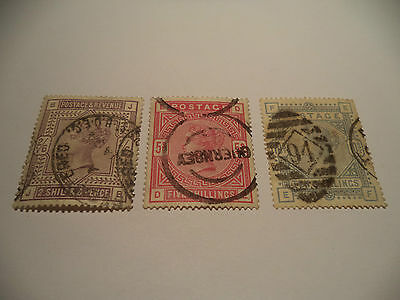 Victorian Set Sg 178 181 And 183 Nice Condition, Cat 935 Pounds