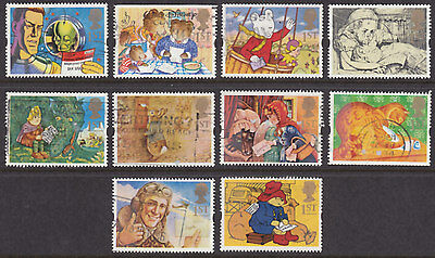 """1994 """" Messages """"  Greetings Stamps Set Of 10 Sg1800/1809 Used"""