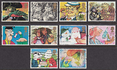 """1993 """" Gift Giving """"  Greetings Stamps Set Of 10 Sg1644/1653 Used"""